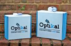 Contact Lens Subscription Kits - The Optikal Service Delivers Everything Needed for Contact Care