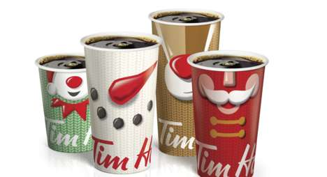 Interactive Holiday Cups - Tim Hortons' New Holiday Cups Encourage Consumers to Spread Cheer