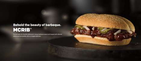 Resurrected Rib Sandwiches - McDonald's is Bring Back the Cult Favorite Mcrib Sandwich