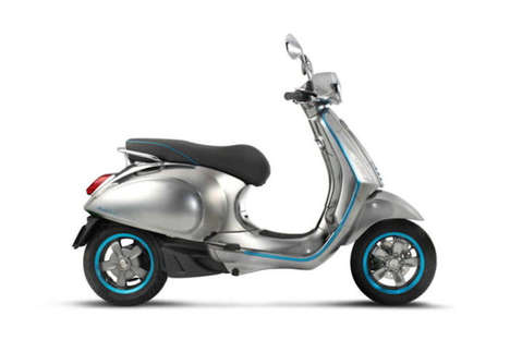 Eco Electric Classic Scooters - The Vespa Elettrica Concept Ditches Internal Combustion