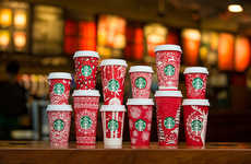 Crowdsourced Coffee Cup Designs - The New Starbucks Red Cups Feature Art from Around the World