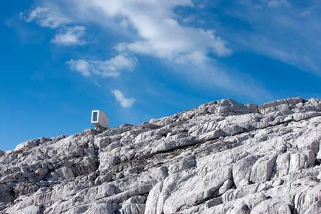 Minute Aluminum Alpine Shelters - OFIS Arhitekti's Kanin Winter Cabin Sits on a Cliff of Mount Kanin
