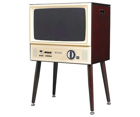 Retro Standing Televisions - Doshisha's Vintage-Inspired TV is Filled with Modern Electronics