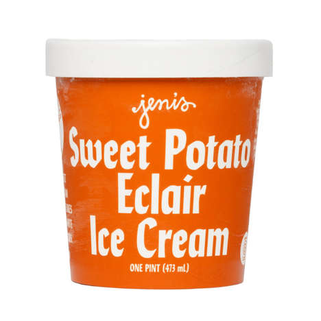 Potato Pastry Ice Creams - This Sweet Potato Dessert Flavor Includes Chocolate and Pastry Pieces