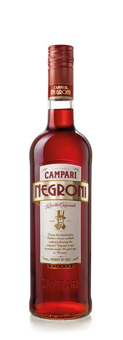 Ready-to-Drink Negroni Bottles - Campari's Newest Product Simplifies Negroni Cocktails