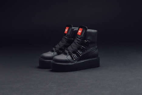 Replenished Singer Sneakers - The FENTY Sneaker Boot by Puma and Rihanna Makes a Bold Statement