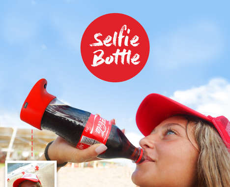 Selfie-Taking Soda Bottles