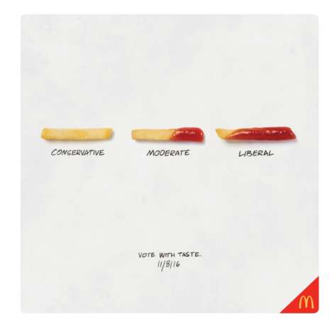 Political French Fry Ads - McDonald's Election Day Ad Illustrates Different Types of Fry Eaters