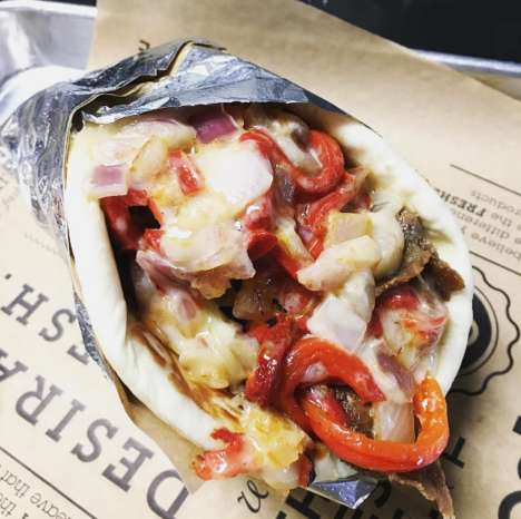 Cheesesteak-Infused Gyros - Gyroville's Gyro Philly Puts an American Twist on a Classic Greek Dish