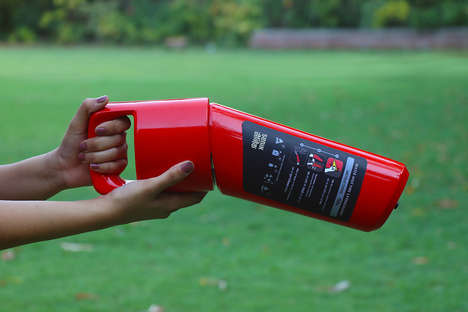 Angled Emergency Extinguishers - The 'Senik' Emergency Fire Extinguisher is Easy to Pick Up and Use