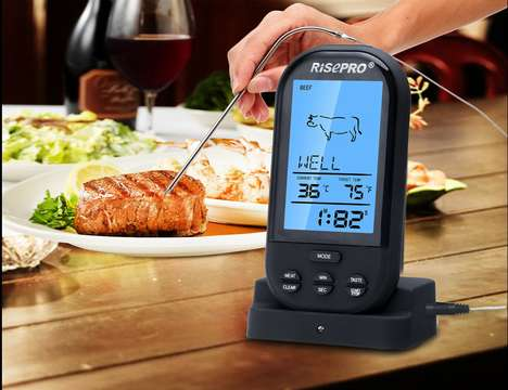 Wireless Control Food Thermometers - The RISEPRO Wireless Thermometer Ensures Optimal Meat Cooking