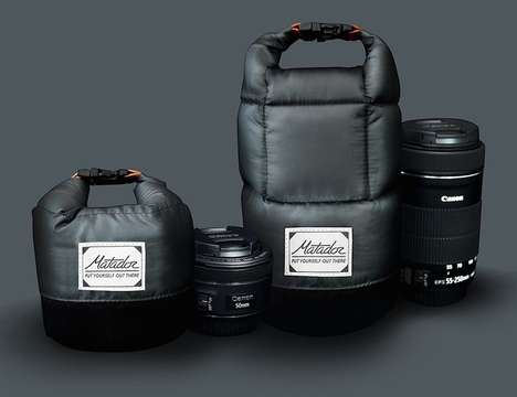 Insulated Photography Lens Bags - The Matador Lens Bag Base Layer Provides Water and Drop Resistance