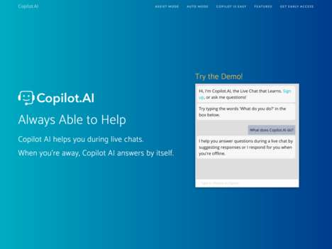 Employee-Aiding Chat Bots - 'Copilot.AI' is an Online Chat Bot to Help with Lead Generation and More