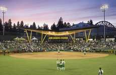 Sharp Softball Stadiums - The New Jane Sanders Stadium is Home to the Oregon Ducks