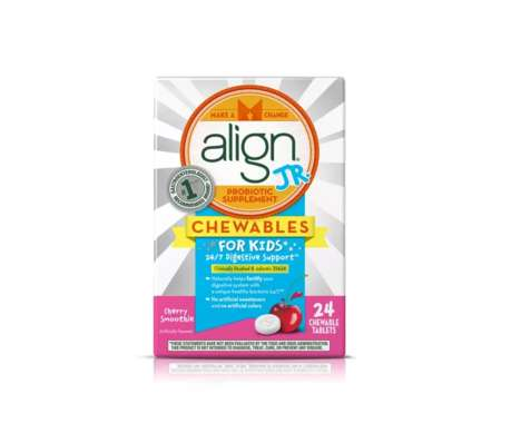 Kid-Friendly Probiotic Tablets - These Align Jr. Supplements Come in a Fun Cherry Smoothie Flavor