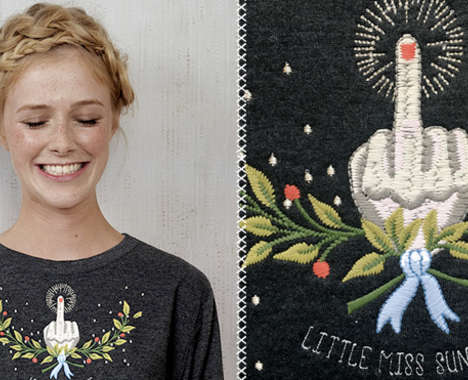 Snarky Embroidered Shirts
