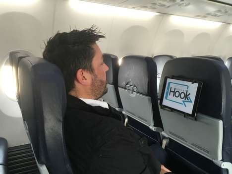 Airplane Seat Tablet Holders - The 'TabletHookz' Tablet Travel Holder Positions the Device Perfectly