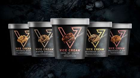 Neon-Branded Ice Creams - These Indulgent Ice Creams Work to Remove the Guilt from Eating the Treat