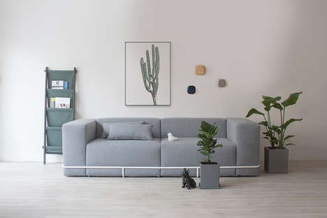 Replaceable Portion Sofas - The Frame Sofa Allows Individual Parts to be Replaced or Swapped Out