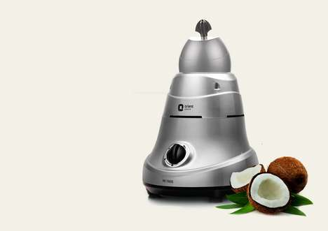 Dedicated Coconut-Shaving Appliances - This Machine Provides Grated Coconut in a Matter of Moments