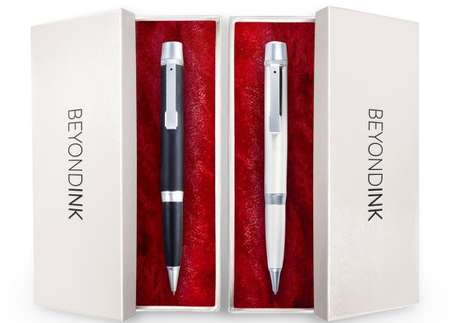 Phone-Charging Storage Pens - The Beyond Ink Pens Feature a Bevy of Smart Features