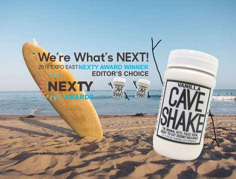 Ready-to-Drink Coconut Milkshakes - 'Cave Shakes' are Vegan Milkshakes Packed with Healthy Nutrients