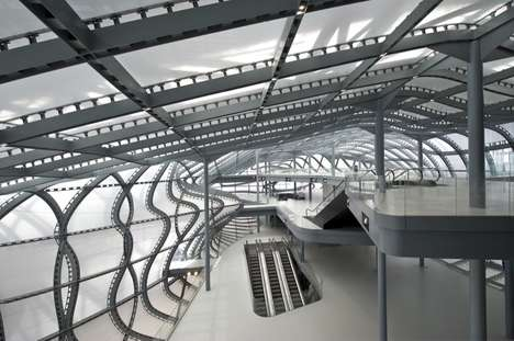 Warped Steel Rebar Interiors - Studio Fuksas' 'The Cloud' Looks Like a Surrealist Image