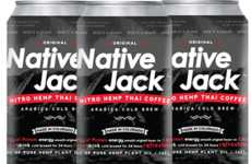 Thai-Style Nitro Coffees - 'Native Jack' Combines Thai-Style Coffee with Nitrogen Gas and Hemp Oils