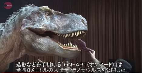 Ultra-Realistic T-Rex Costumes - ON-ART Corporation's 'Dino-a-Live' Costumes Require Just One Actor