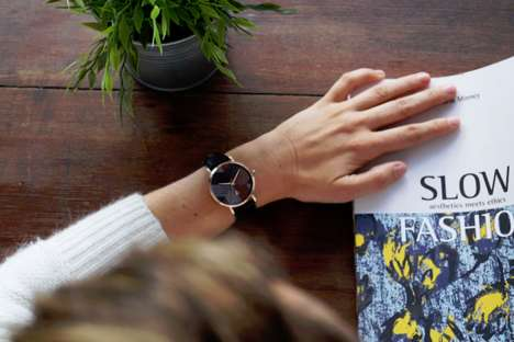 Marquetry Watch Designs - The 'KOPPO' Collection of Watches is Both Rustic and Contemporary