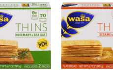 Ultra-Thin Whole Grain Crackers - The New Wasa THINS Serve as a Healthy Base for Delicious Toppings