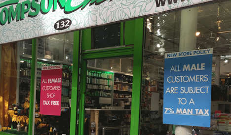 Male-Taxing Pharmacies - Thompson Chemists is Levying a Man Tax to Make Up For Gender Inequality