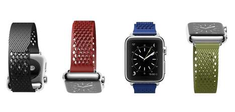 Customized Fit Smartwatch Straps - The 'LABB' Apple Watch Straps Feature a Velcro-Inspired Design