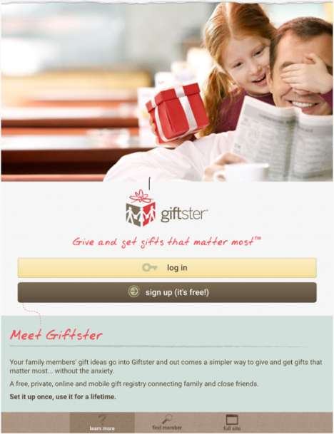 Gift-Giving Organization Apps - The 'Giftster' App Helps Consumers Organize Gifts Ahead of Time