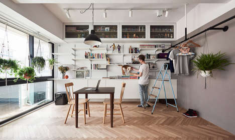 Cat-Friendly Apartment Designs - 'Loft H' Makes the Most of Limited Space for an Owner and Two Cats