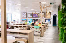 Wood-Clad Office Interiors