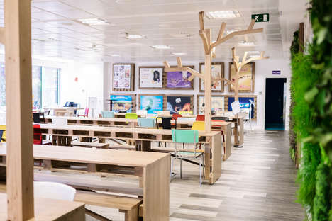 Wood-Clad Office Interiors - The Mondelez International Company's Office is Inspired by Nature