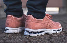 Masculine Salmon Sneakers