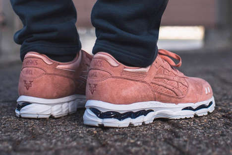Masculine Salmon Sneakers - These New Ronnie Fieg Asics Boast Collaborative Branding with KITH