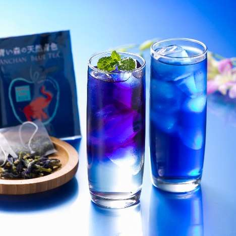 Blue Tea Beverages - The 'Anchan Blue Tea' Gets Its Vibrant Color from the Butterfly Pea Herb