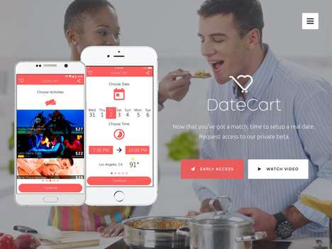 Automated Date-Planning Apps - 'DateCart' Helps Users Plan a Date That Suits Their Preferences