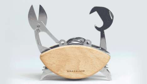 Crab-Shaped Multi-Tools - This Pocket Multi-Tool Comes in an Endearing and Functional Shape