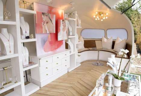 Traveling Jewelry Shops - The Kendra Scott Airstream Shop Brings Customizable Jewelry to Consumers