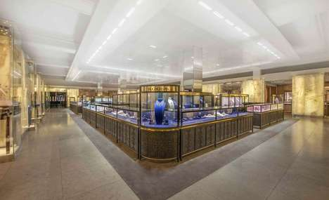 Luxurious Private Jewelry Spaces - Harrod's 'Fine Jewelry Room' Contains Screened Areas