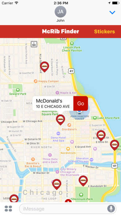 Sandwich-Sourcing Apps - The 'McDonald's McRib Finder' Helps Consumers Locate the Sandwich