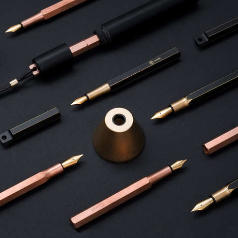 Personalized Fountain Pens - This Modern Fountain Pen Comes with a Portable Case