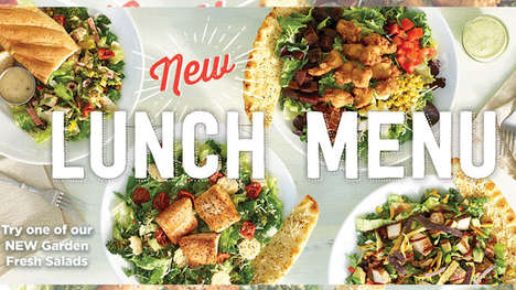 Fresh Lunch Menu Upgrades - Ruby Tuesday's New Lunch Menu Emphasizes Freshness and Value