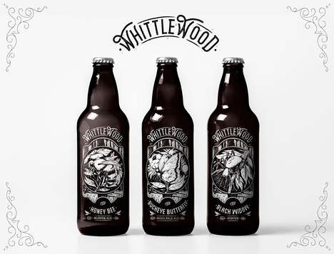 Insect-Themed Beer Branding - These 'WhittleWood' Beers are Made With Eco-Friendly Practices
