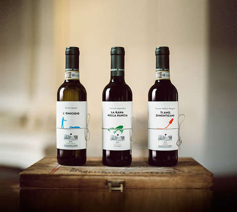 Storytelling Wine Labels - These Wine Label Designs Feature Short Stories On Them
