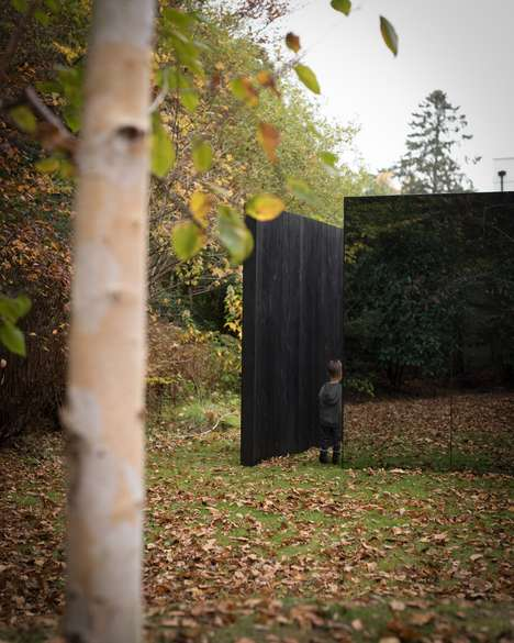 Camouflaged Garden Pavilions - Scott Kyson's 'Treehouse' Uses Glass to Blend into Its Surroundings